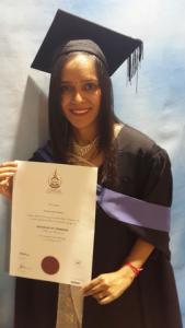 Rigana Employee Nirisha Dhanishwar With Her Bachelor of Commerce